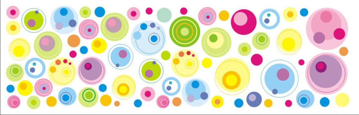 Samolepiaca dekorácia na stenu - bublinky 0,5 m² kolieska