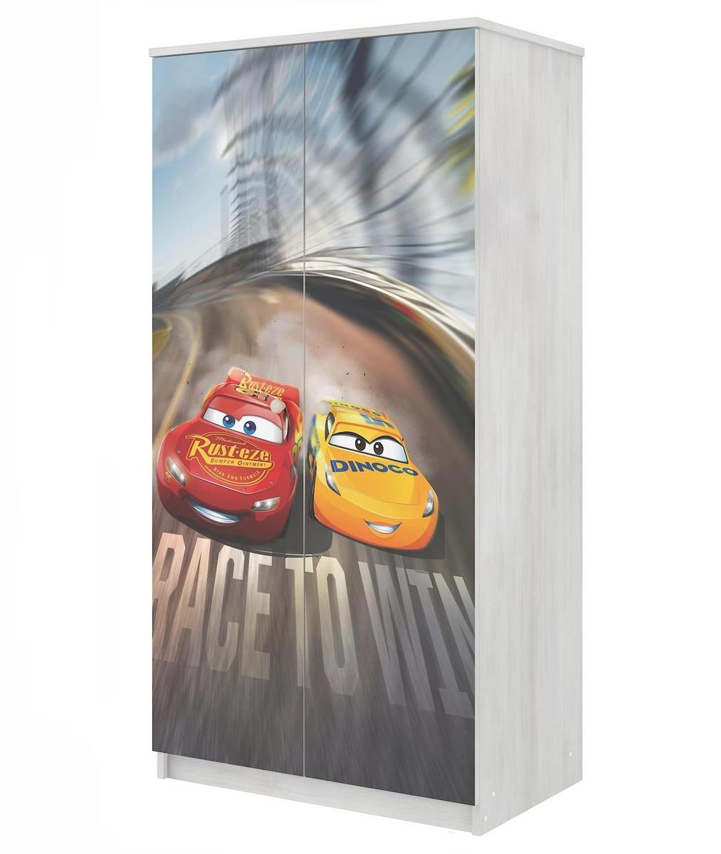 Šatník Autá 3 McQueen - dekor nórska borovica wardrobe Cars