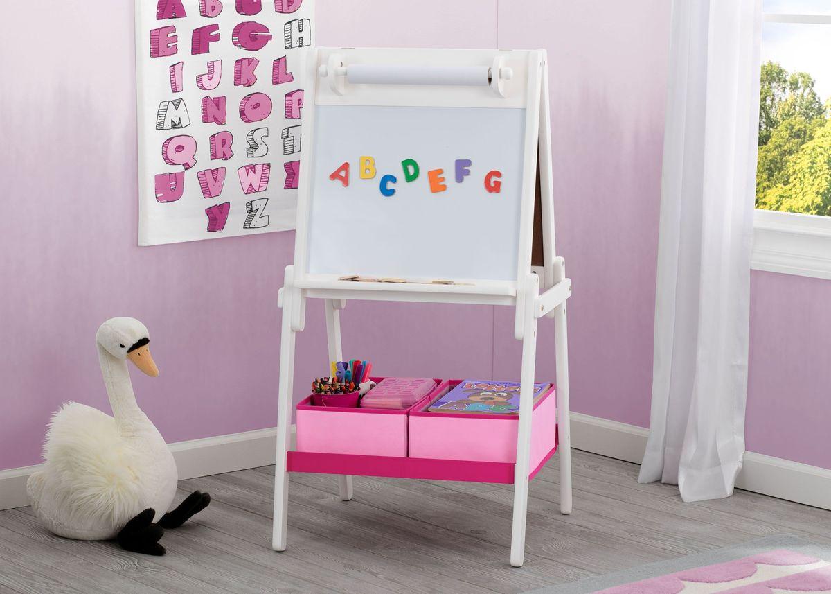 Detská drevená tabuľa - biela TE87600GN-130
