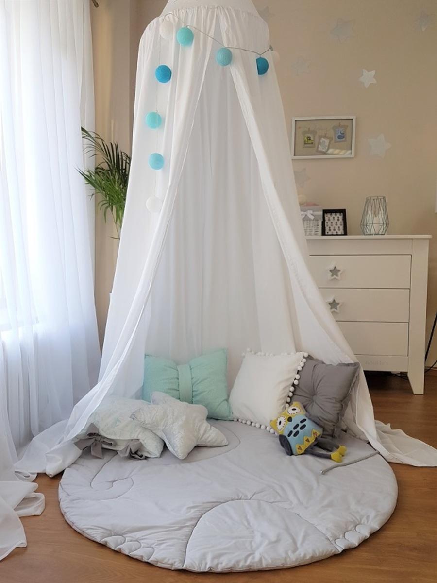 Závesný Baldachýn - biely Cotton tent - white