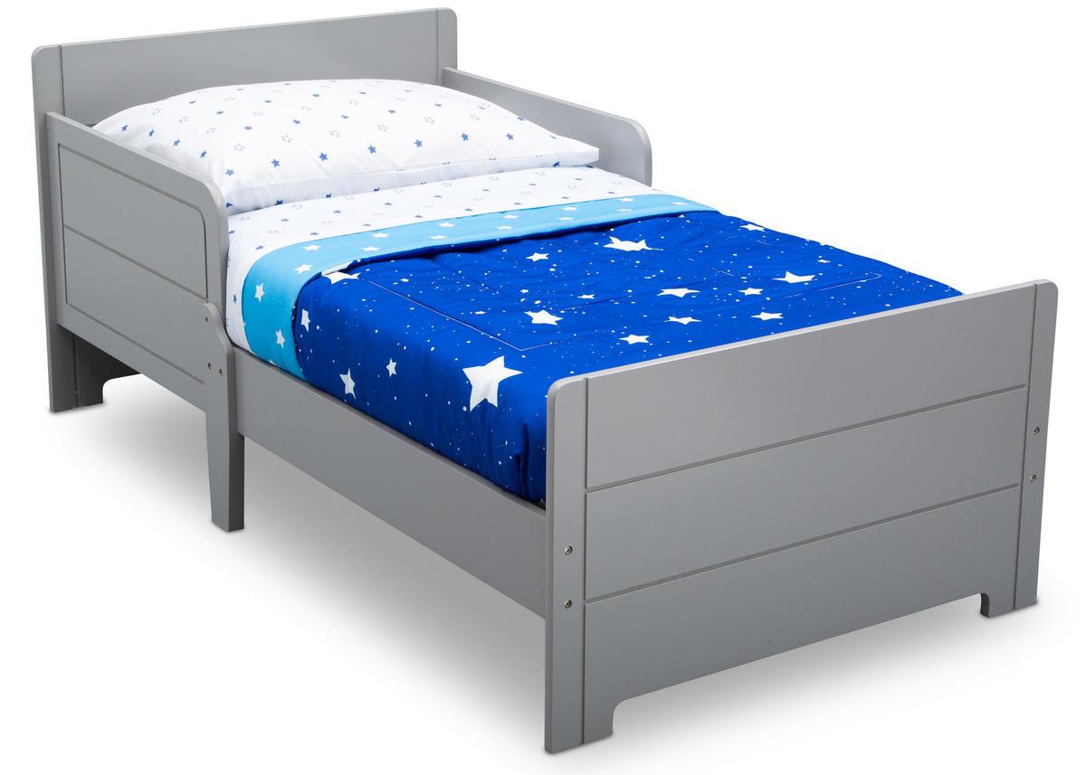 Detská drevená posteľ - sivá BB81480GN Grey