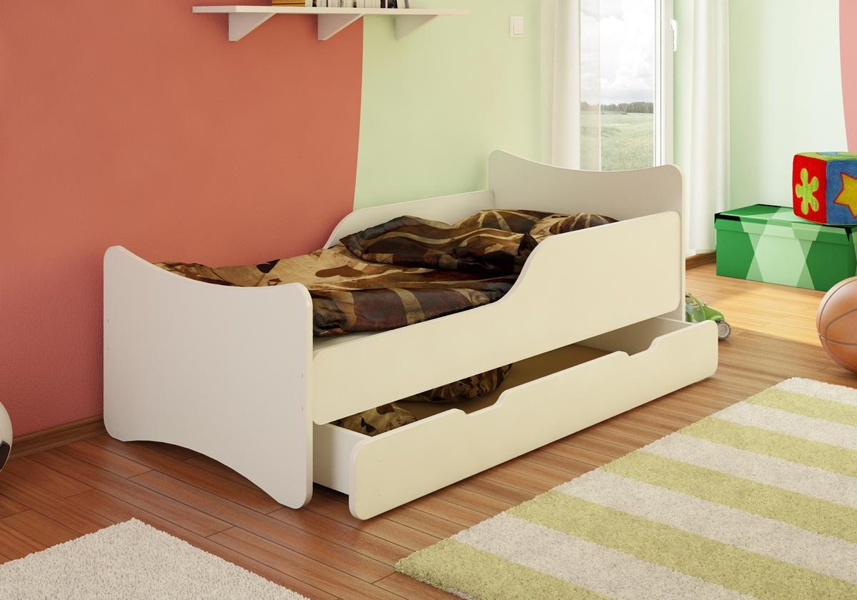 Detská posteľ Paula - biela 160x70 cm posteľ bez úložného priestoru
