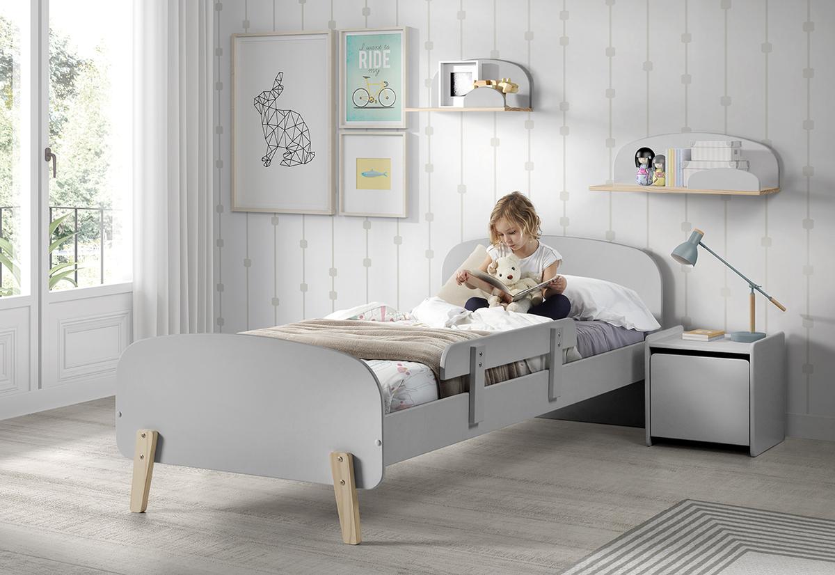 Detská posteľ KIDDY - šedá posteľ