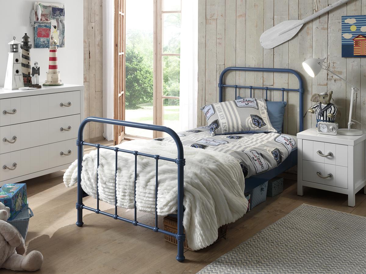 Kovová posteľ New York - modrá