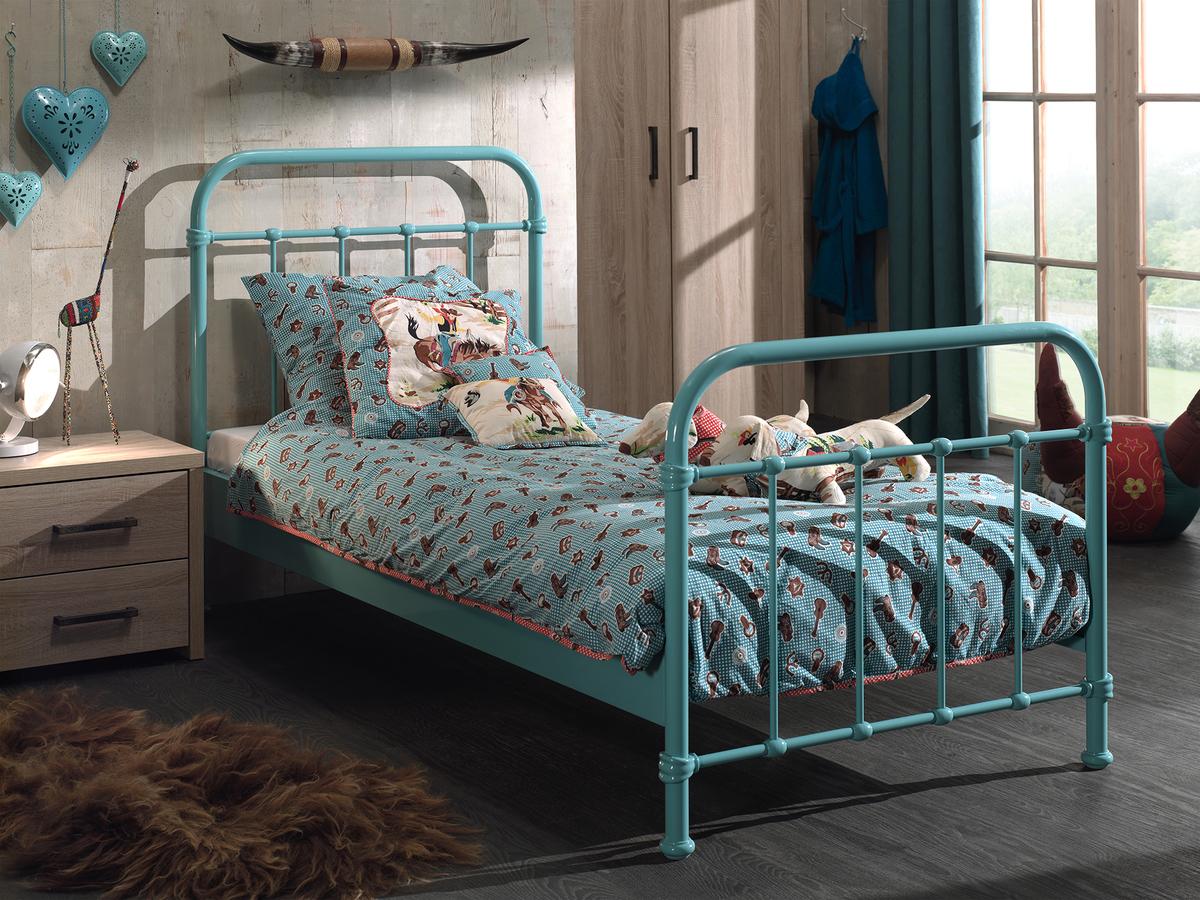 Kovová posteľ New York - mätová