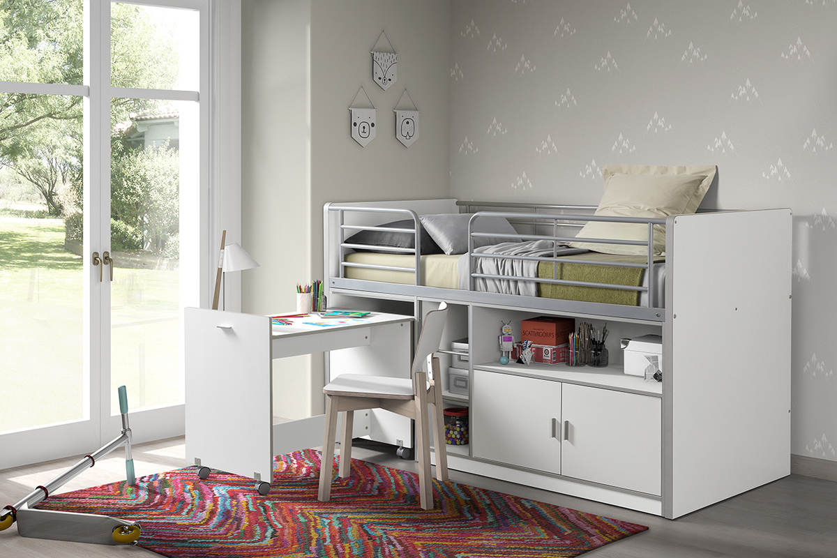Detská multifunkčná posteľ BONNY - biela