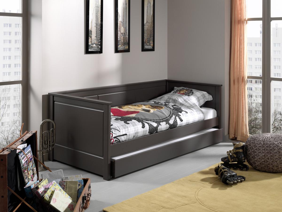 Detská posteľ PINO - sivá úložný priestor s funkciou spania