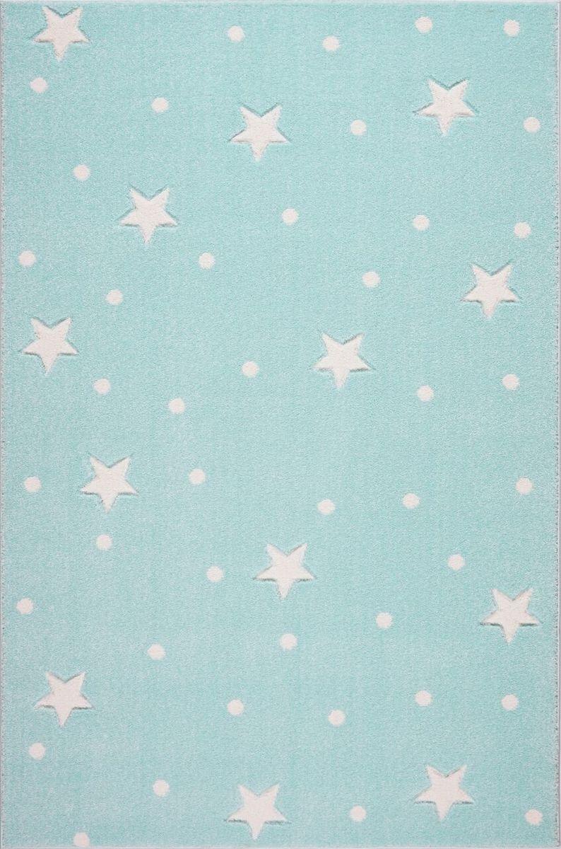 Detský koberec HEAVEN - mätovozelený/biely 120 x 170 cm