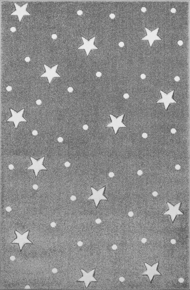 Detský koberec HEAVEN - striebornošedý/ biely 100 x 150 cm