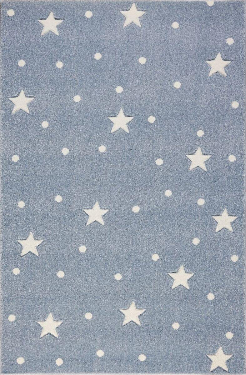 Detský koberec HEAVEN - striebornošedý/biely 100 x 150 cm
