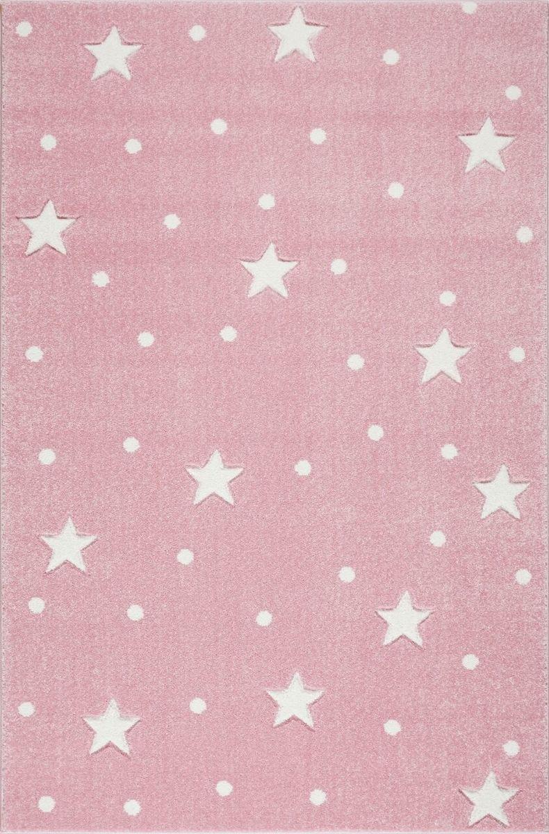 Detský koberec HEAVEN - ružový/biely 120 x 170 cm