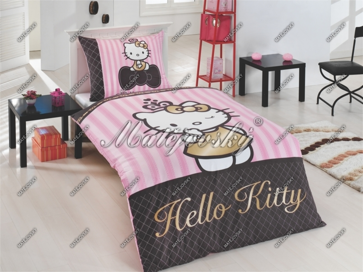 Obliečky Hello Kitty - gold 140x200