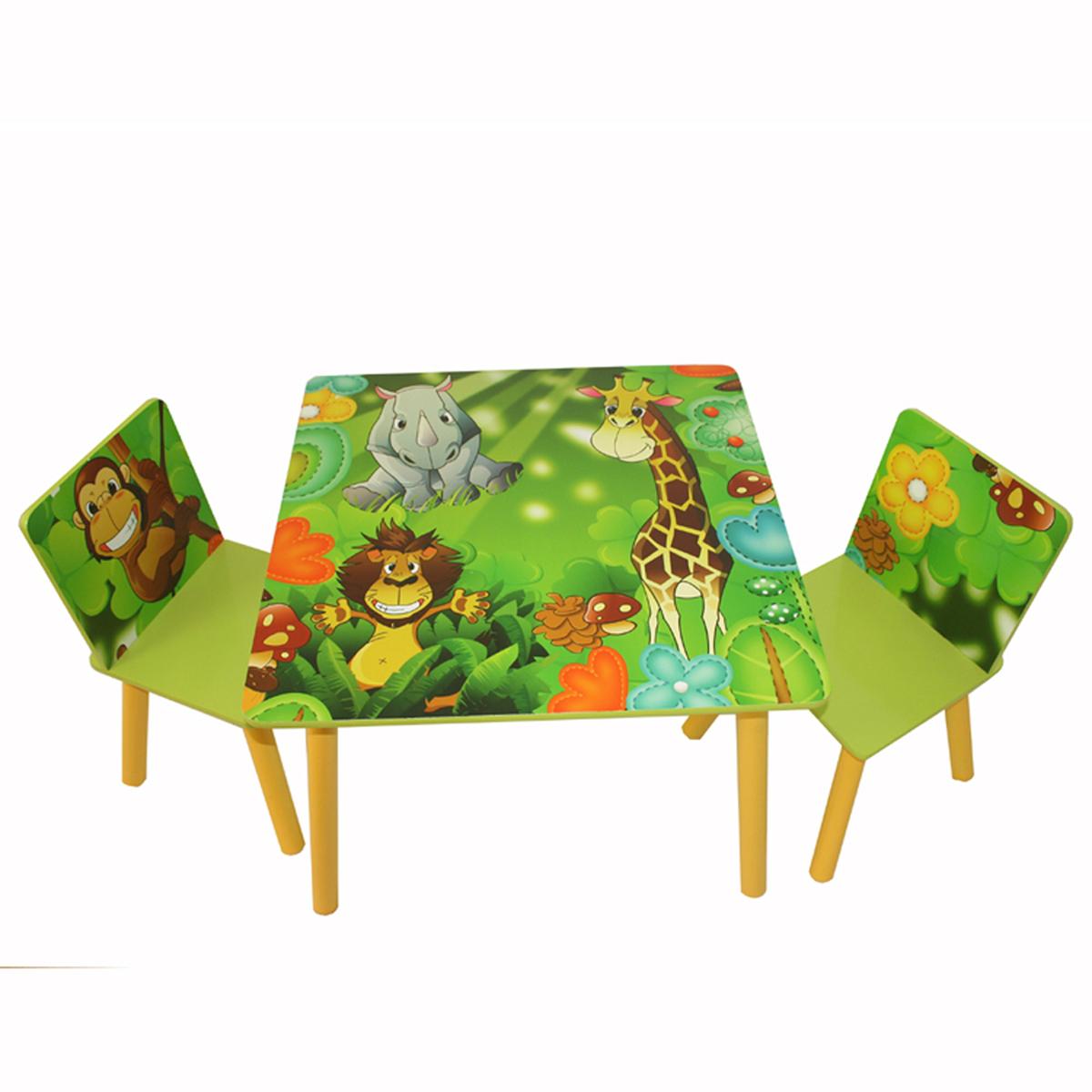 Detský stôl so stoličkami JUNGLE