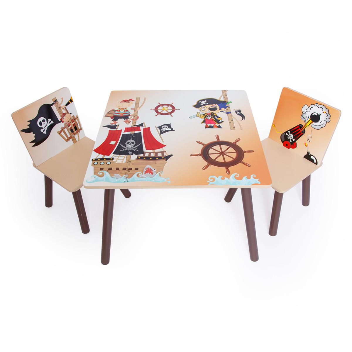 Detský stôl so stoličkami - pirát