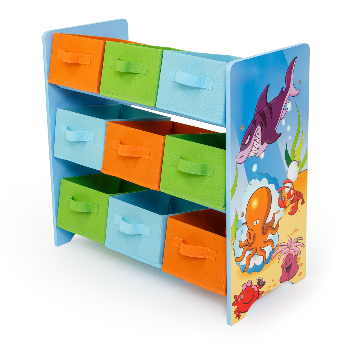 Detský organizér na hračky - sea