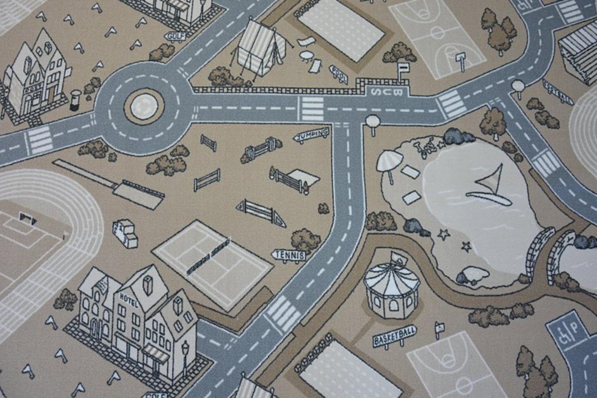 Ourbaby Street 22372-0 200 x 300 cm sivá