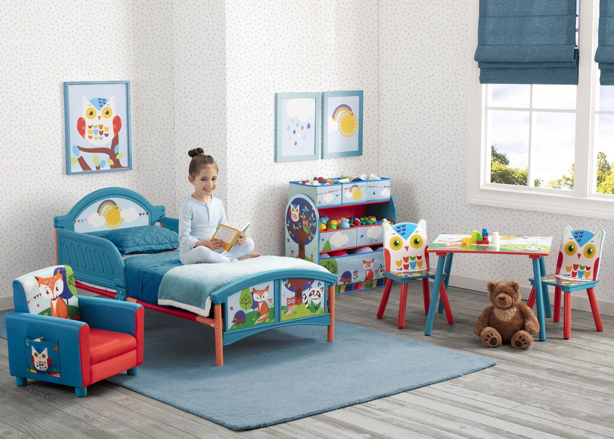 Detská posteľ Delta Forest Animals modrá 140x70 cm