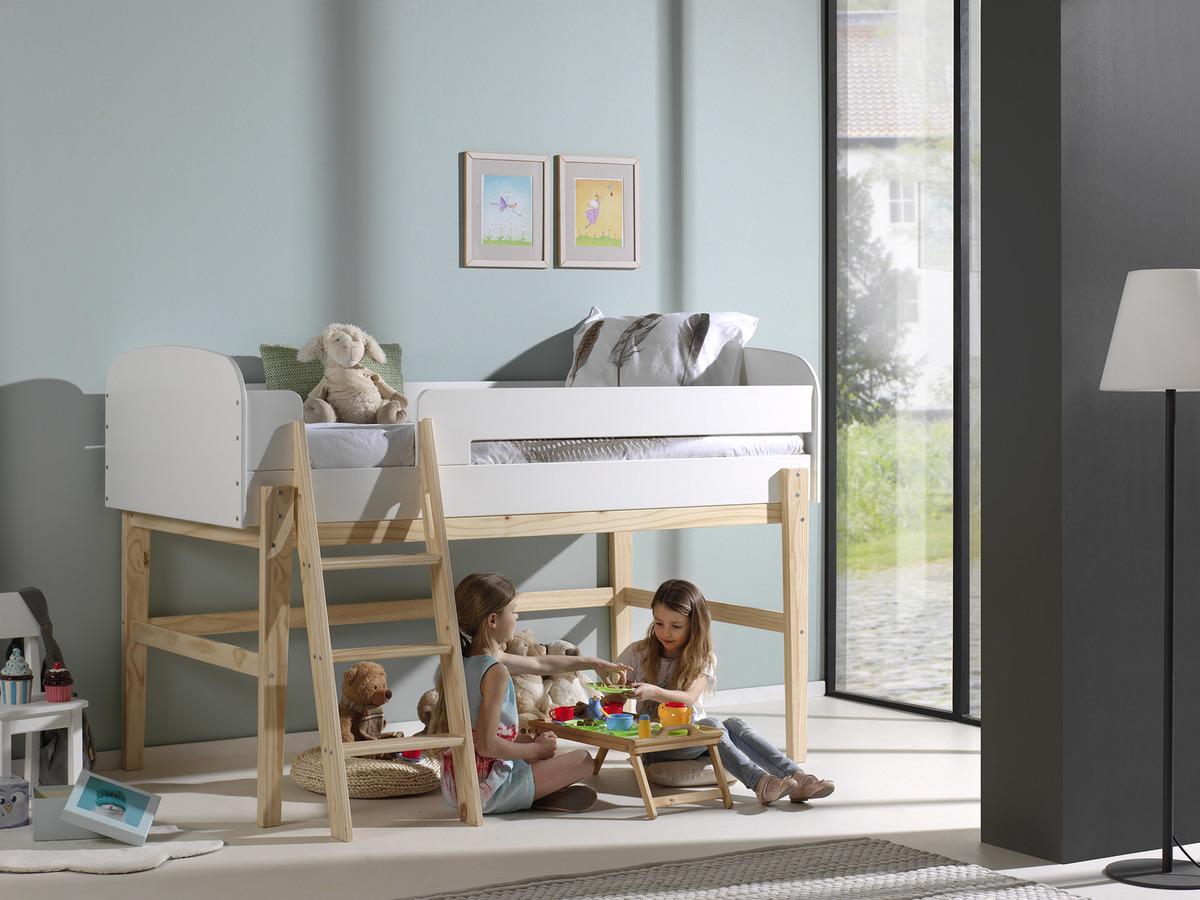 Detská vyvýšená posteľ KIDDY