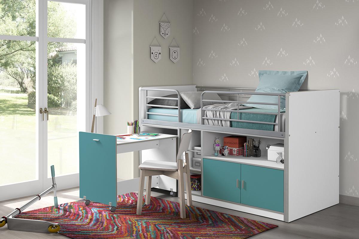 Detská multifunkčná posteľ Bonny tyrkysová