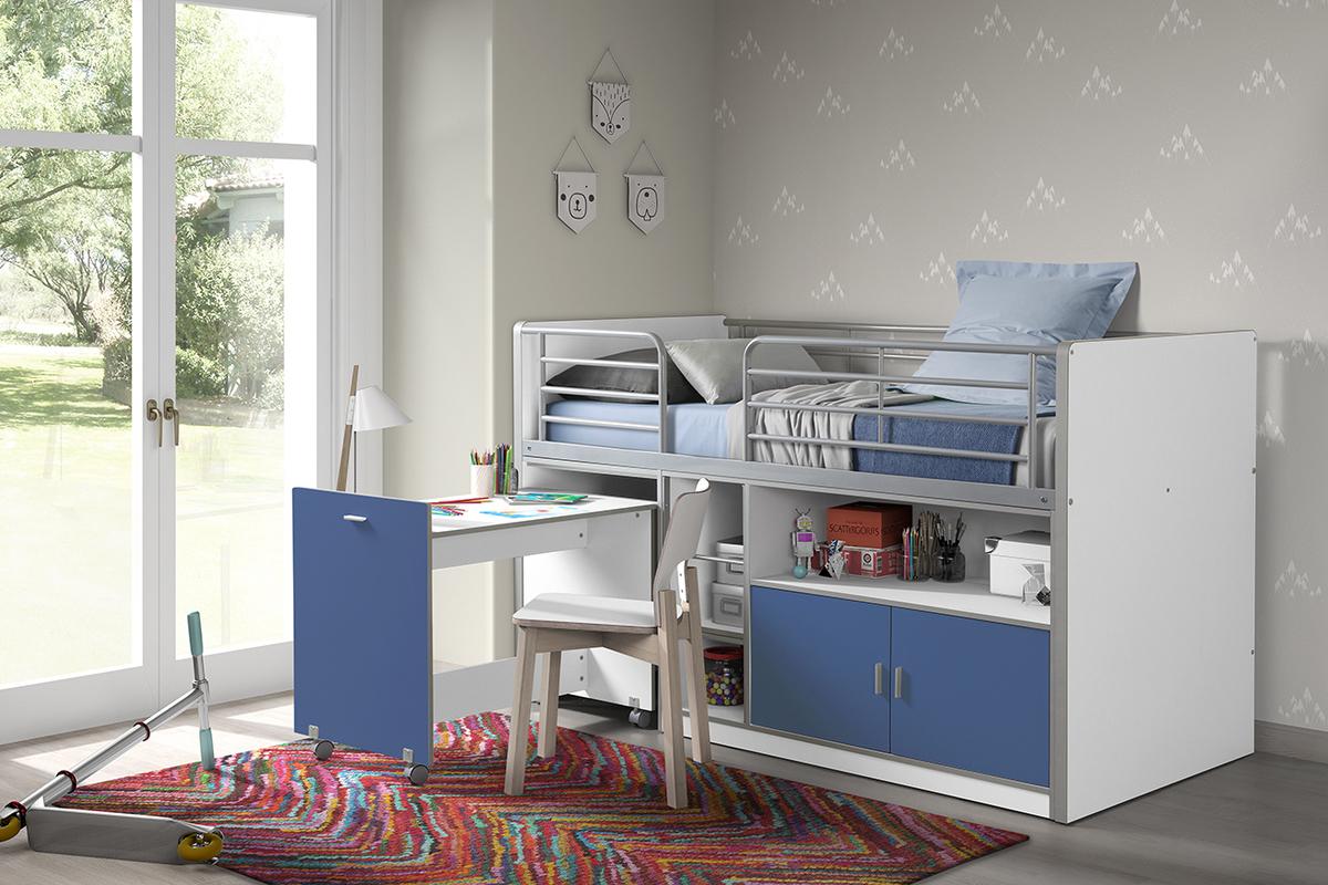 Detská multifunkčná posteľ Bonny modrá