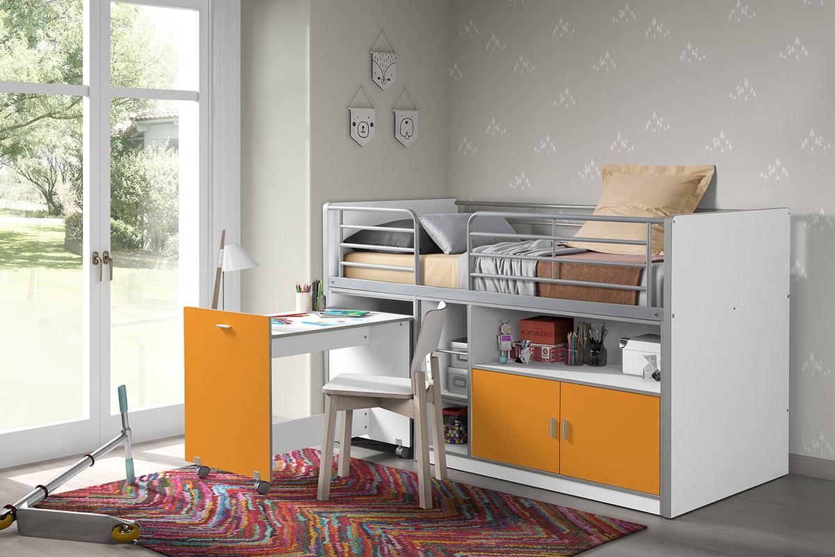 Detská multifunkčná posteľ Bonny oranžová