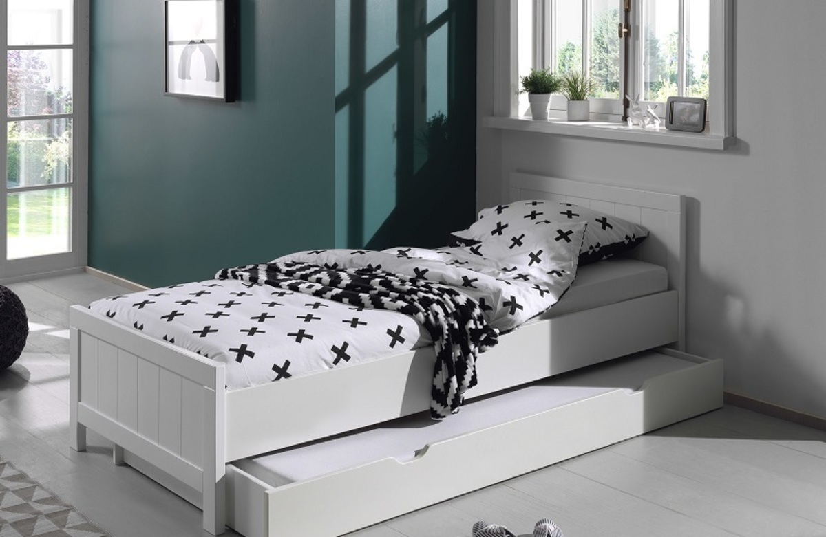 Detská posteľ VIPACK FURNITURE Erik biela 200x90 cm
