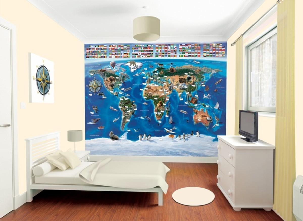3D Tapeta - Mapa Sveta