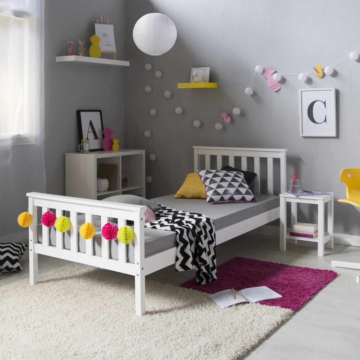 Detská posteľ Anet - biela 200x90 cm