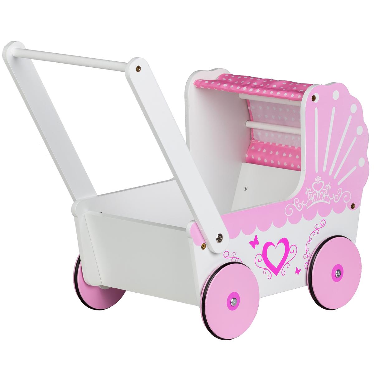 Drevený kočík pre bábiky Sweetheart