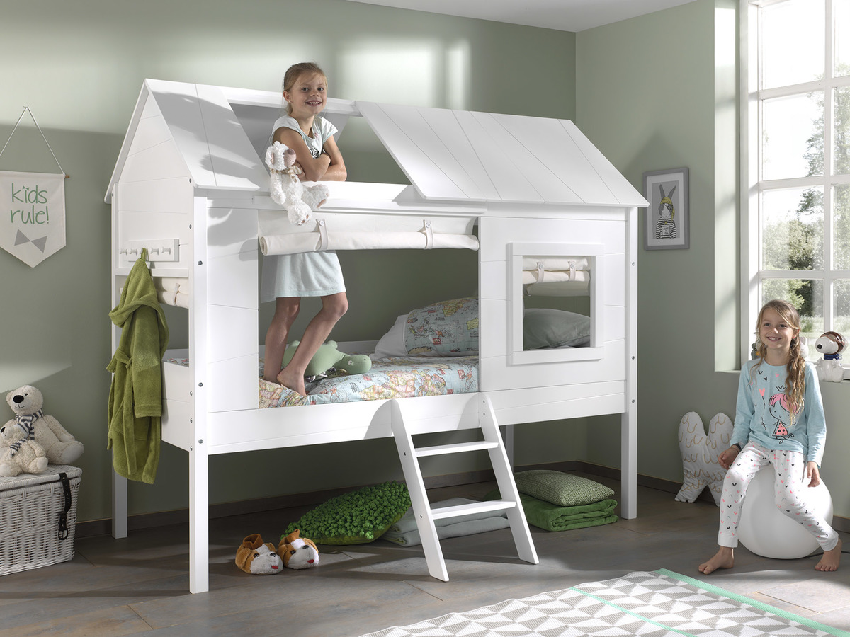 Detská posteľ domček Charlotte - biela