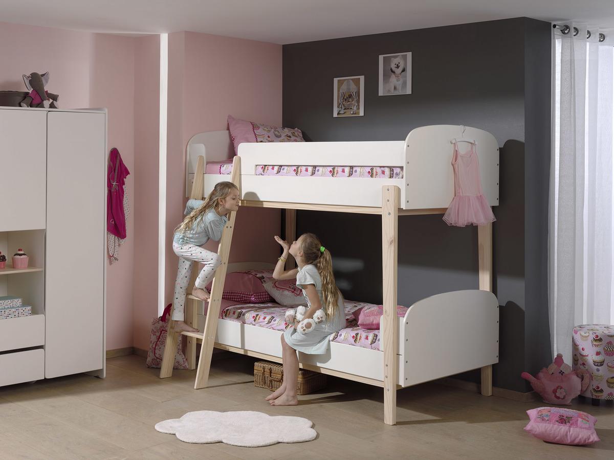 Detská poschodová posteľ Kiddy - biela