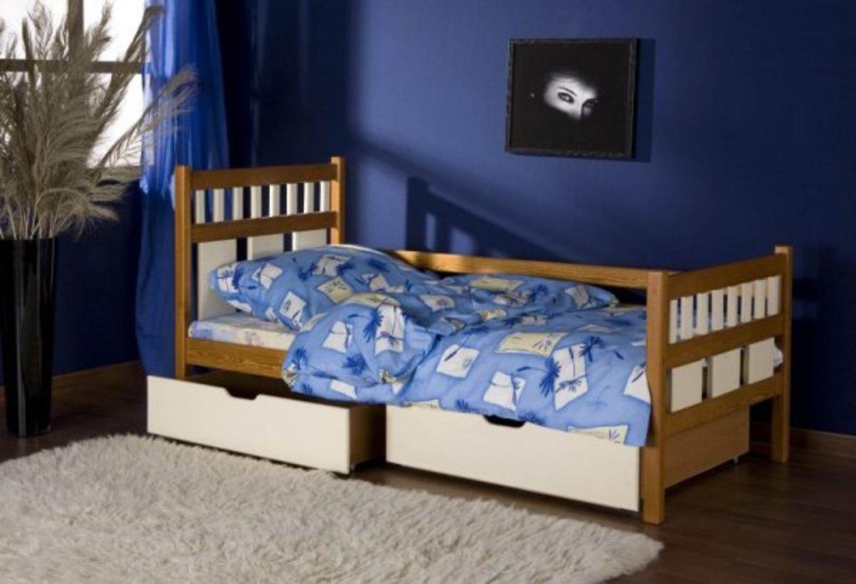 Detská posteľ Luiza - dub-biela 180x80 cm