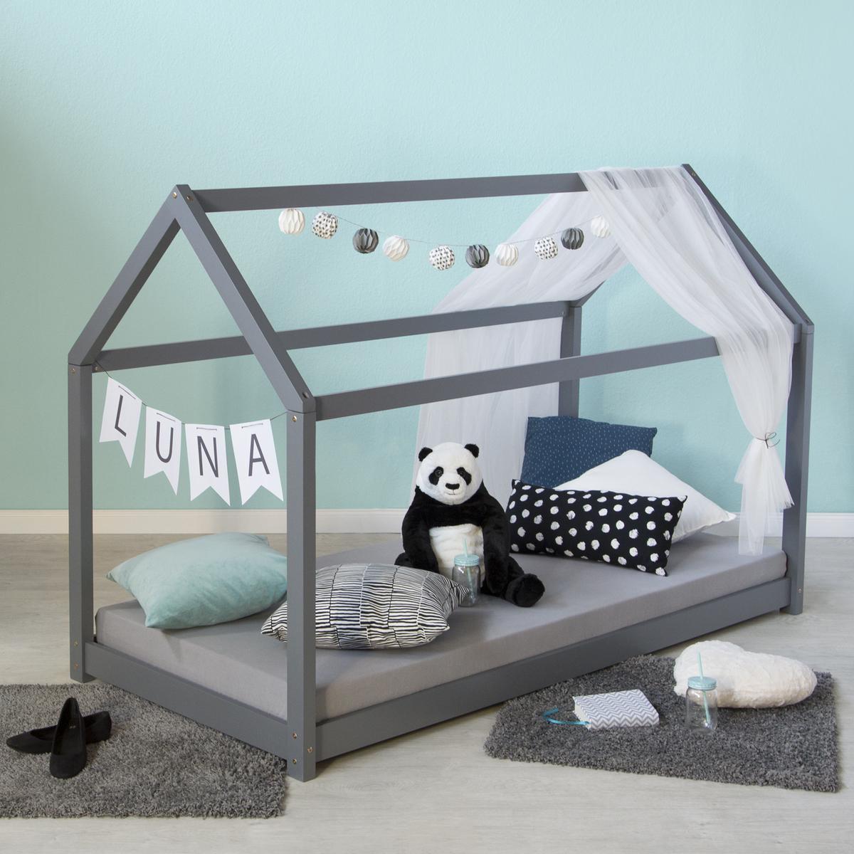 Detská posteľ domček - sivá House bed