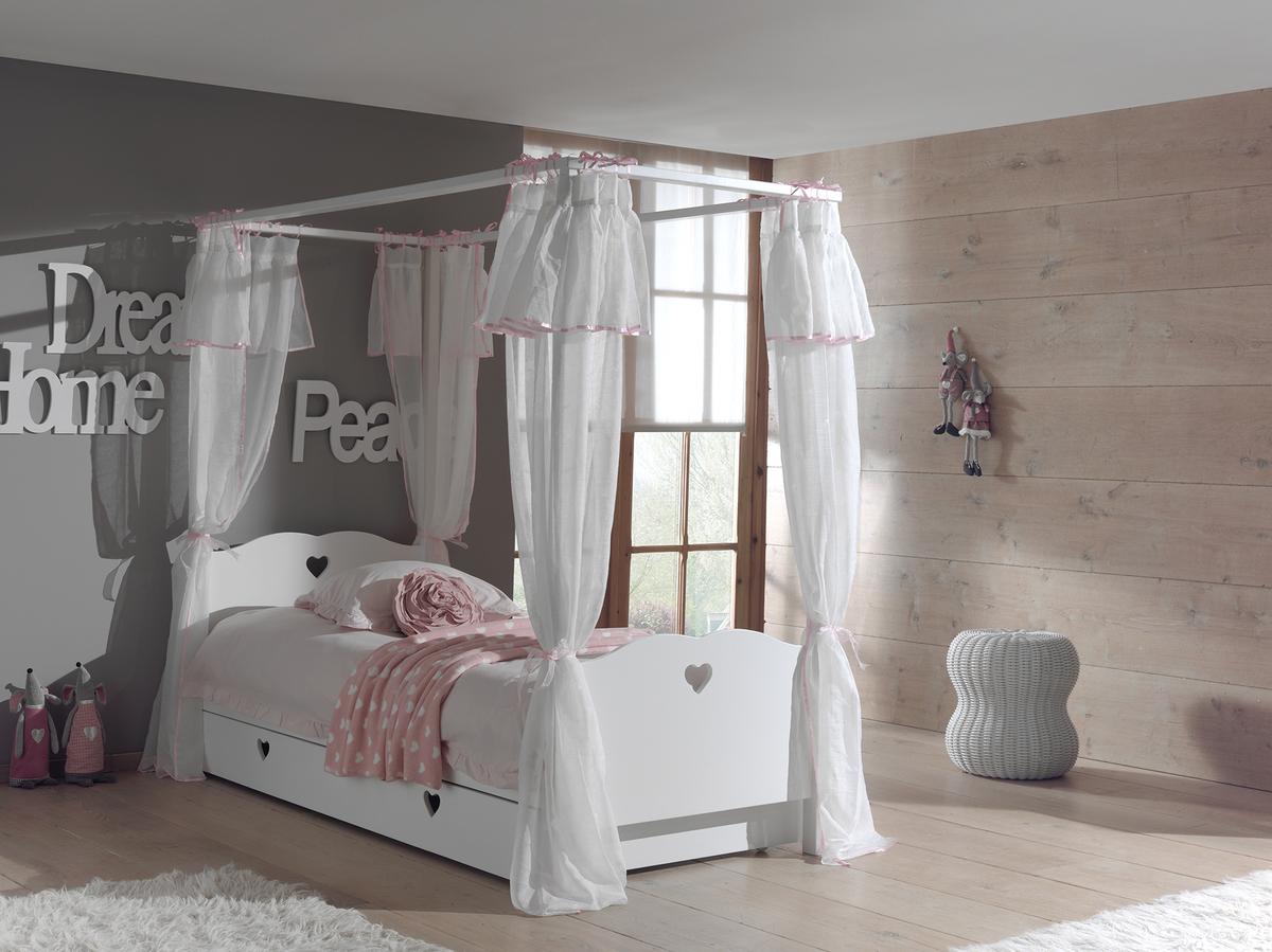 Detská posteľ Amori s nebesami 200x90 cm posteľ