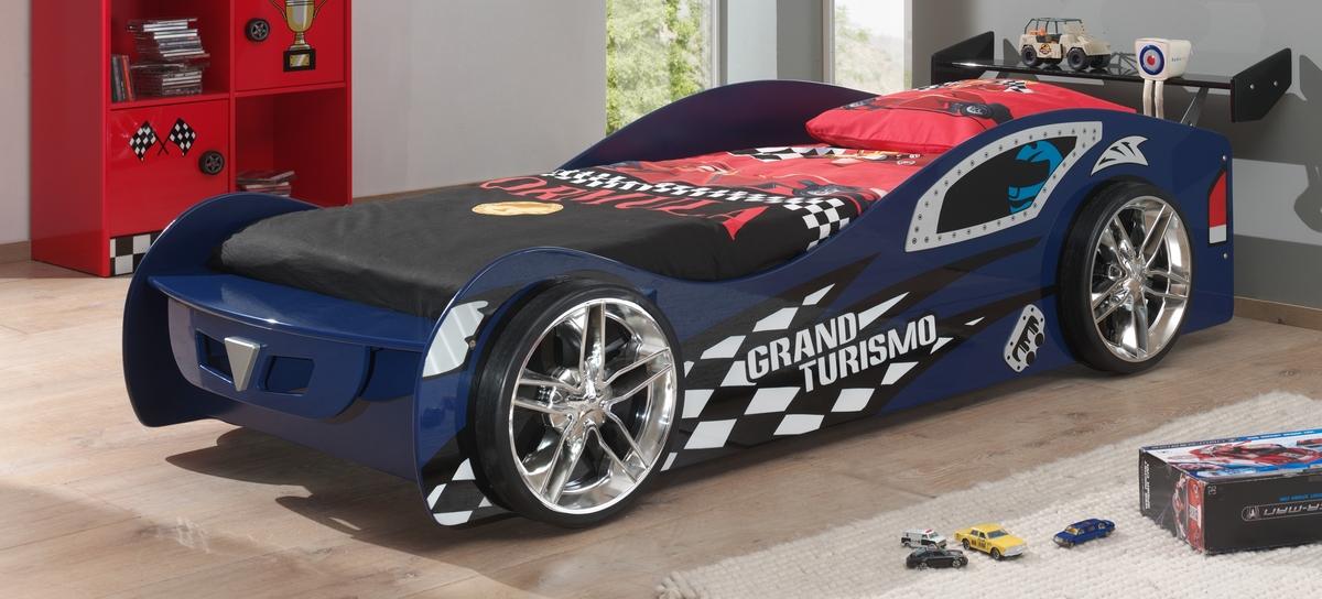 Detská posteľ auto Grand Turismo - modrá Car
