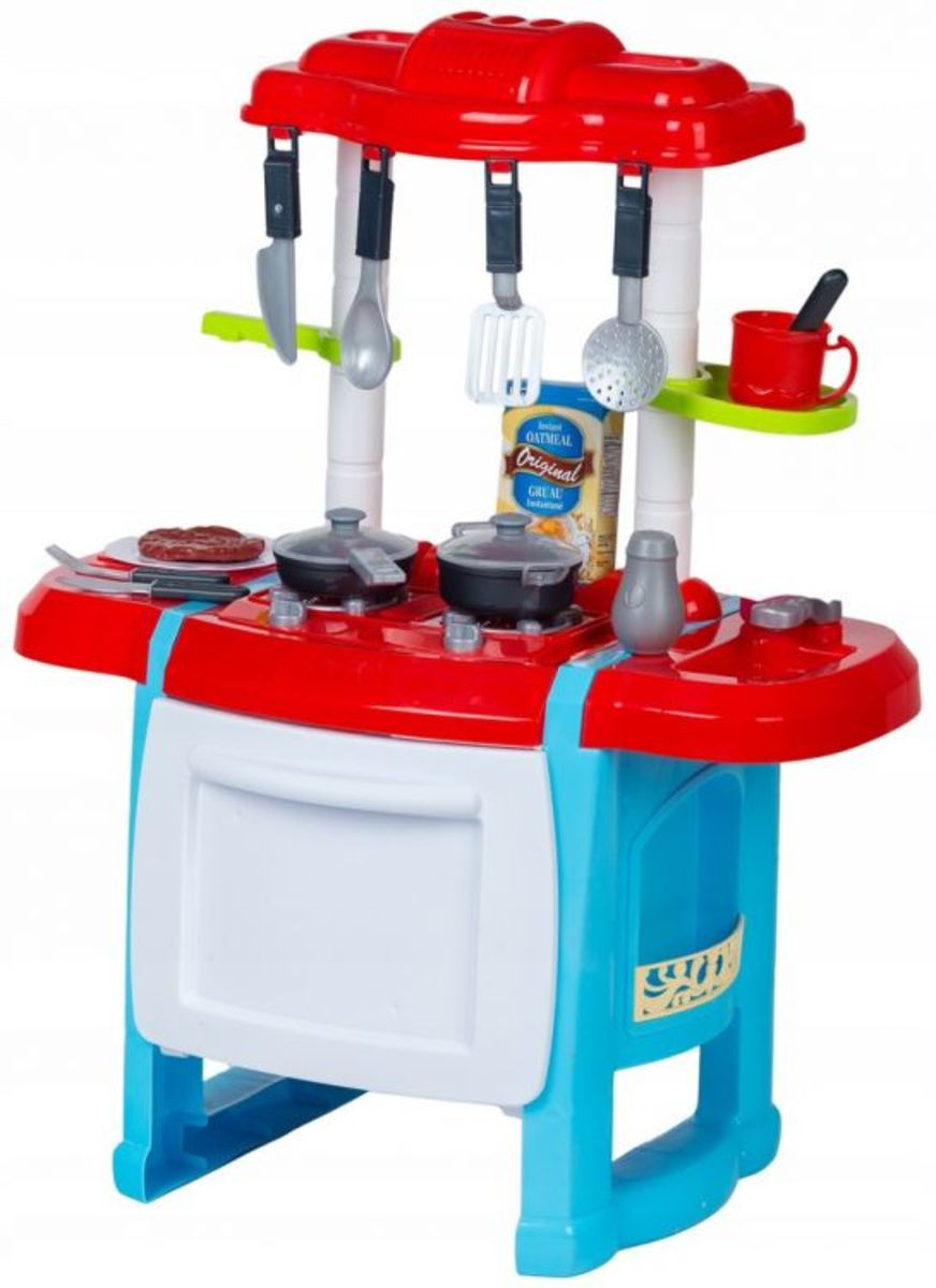 Detská kuchynka Happy Chef - červeno-modrá