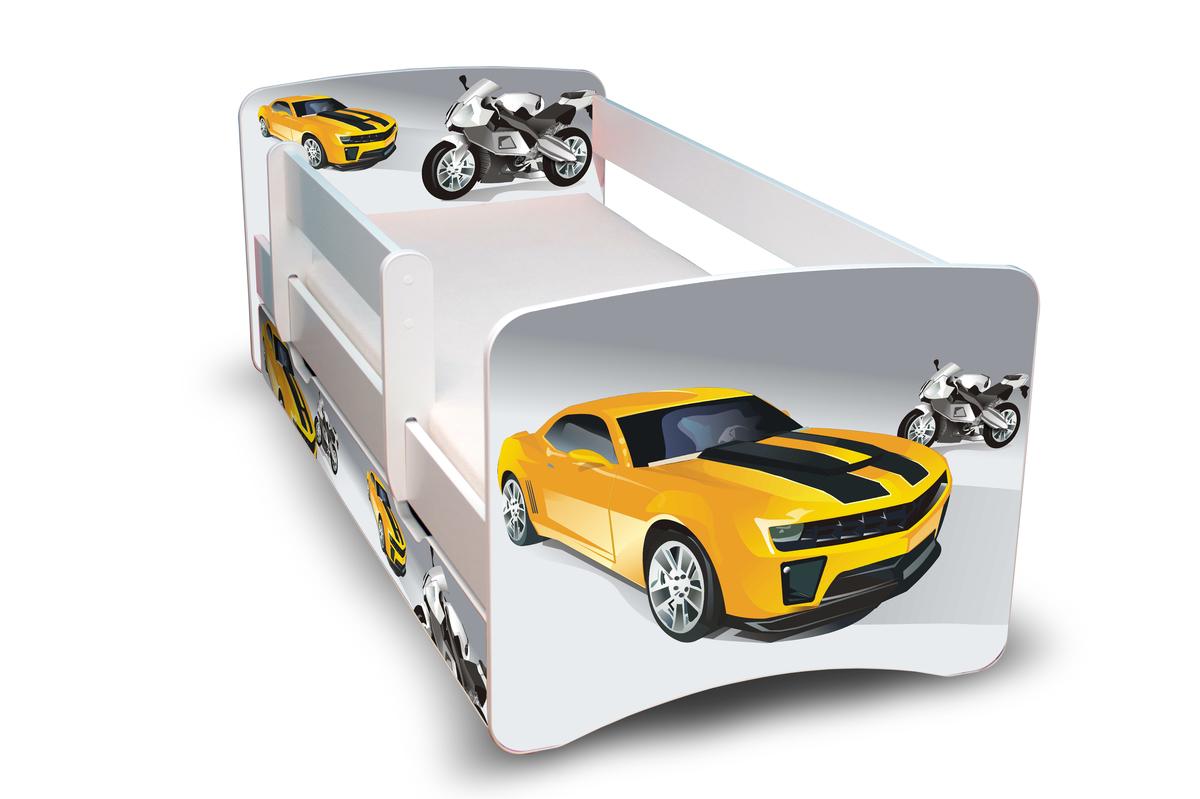 Detská posteľ so zábranou - pretekár Racer 180x80 cm posteľ bez úložného priestoru