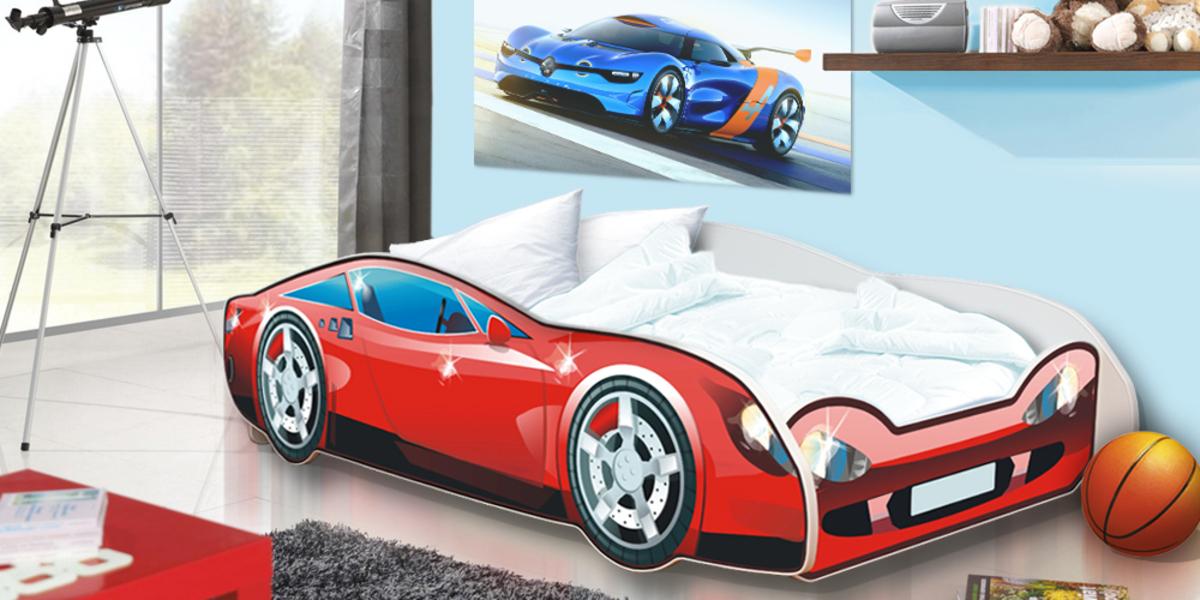 Ourbaby Car Speedy červená 180x80 cm