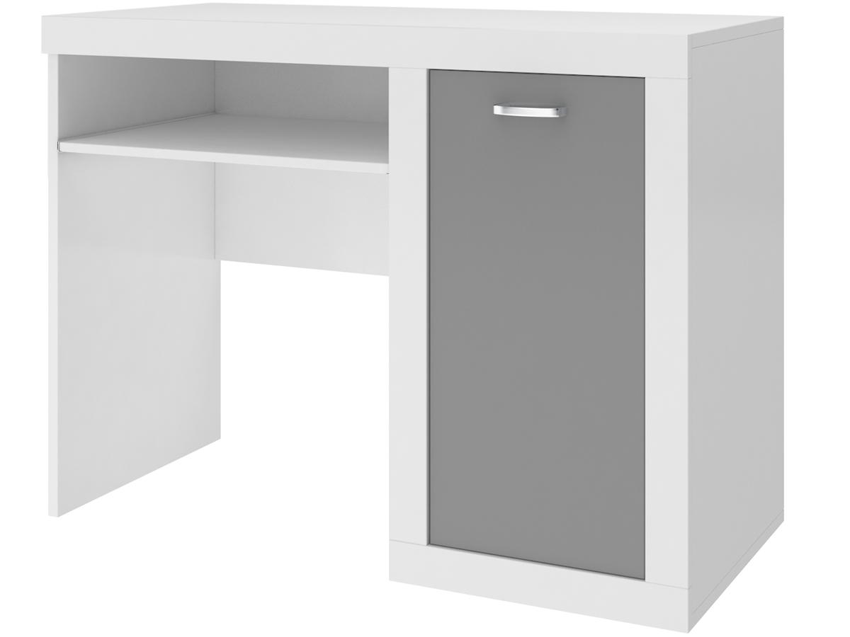 Písaci stôl Filip - bielo-sivý