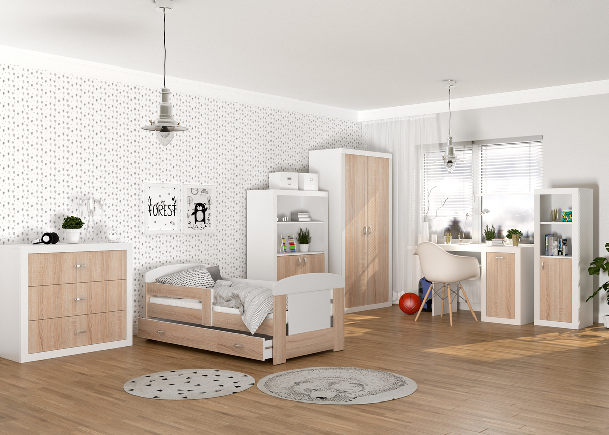 Detská posteľ Filip - dub sonoma 160x80 cm