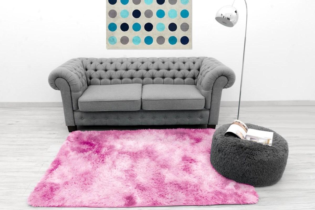 Detský plyšový koberec Ombre Light Pink 140 x 200 cm