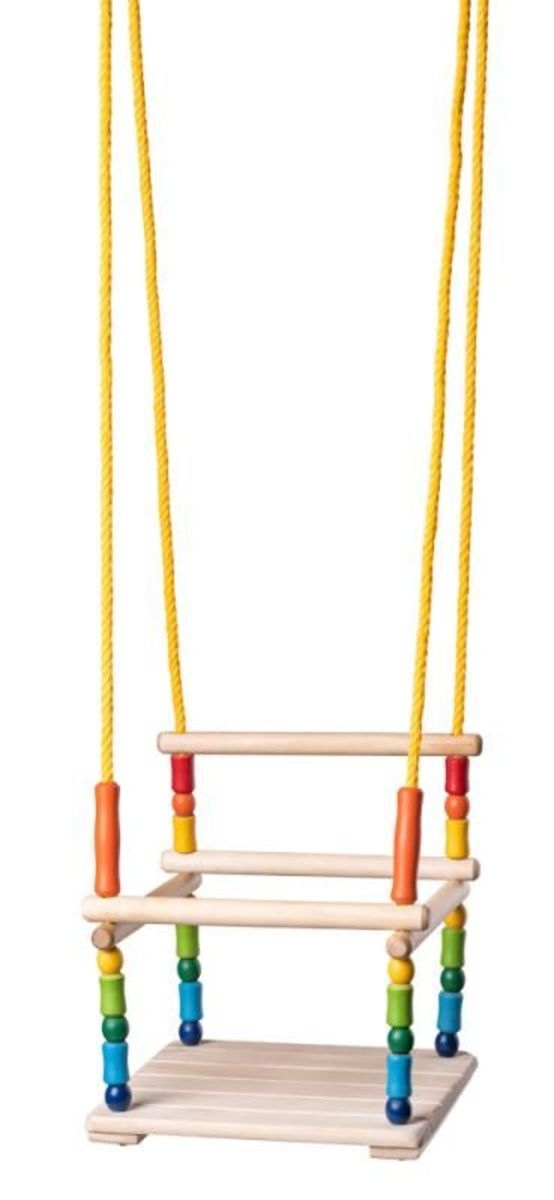 Drevená hojdačka s korálkami do 35 kg wooden swing