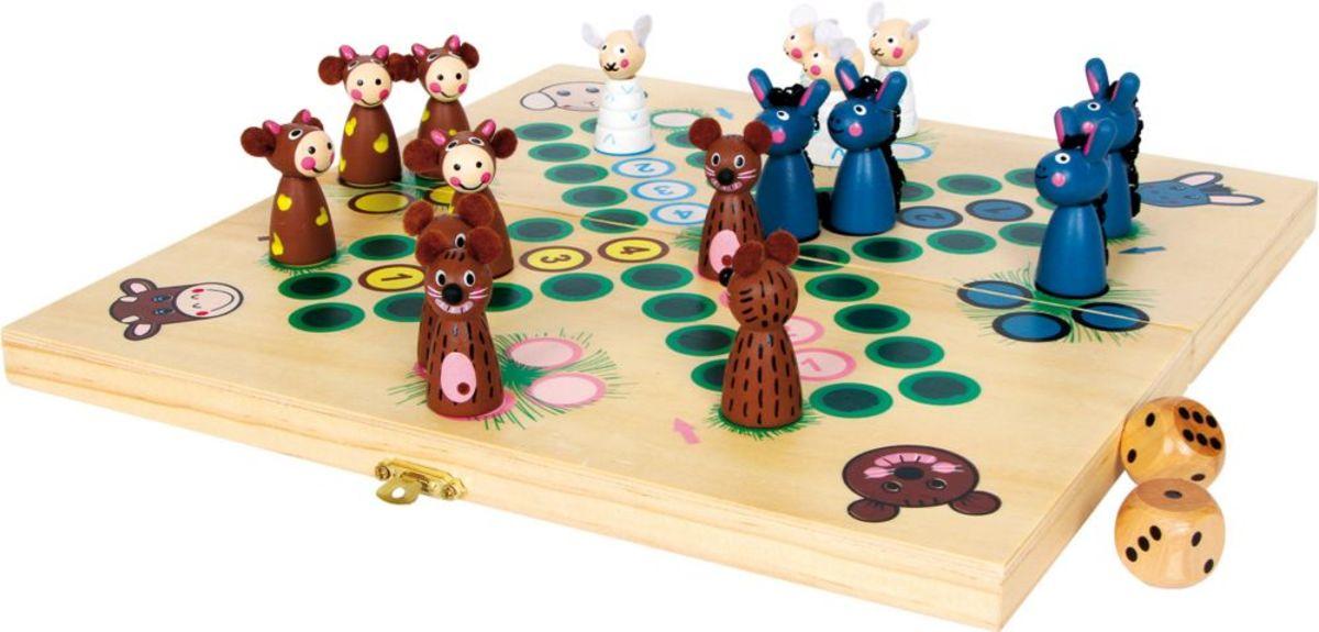 Detská spoločenská hra Človeče nehnevaj sa - zvieratká Ludo board game