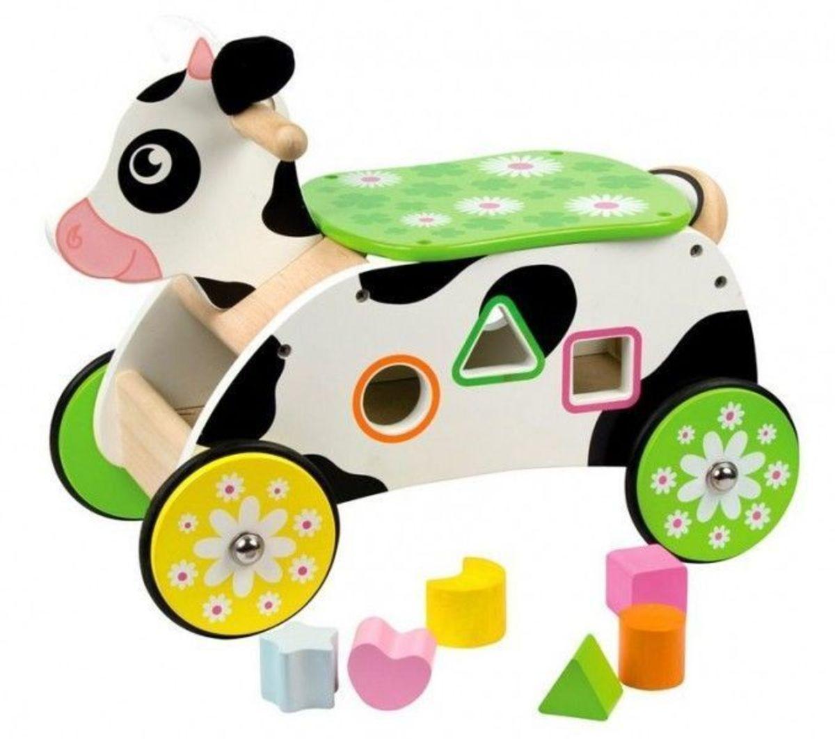 Drevené odrážadlo Kravička Cow ride-on