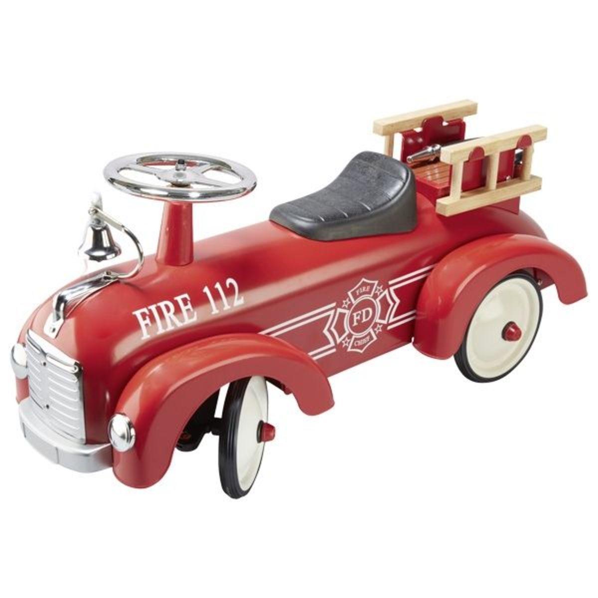 Historické hasičské odrážadlo retro car