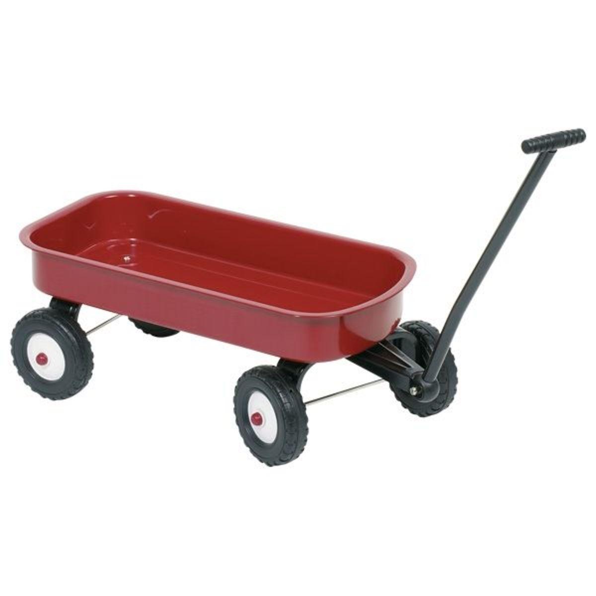 Kovový vozík na hračky
