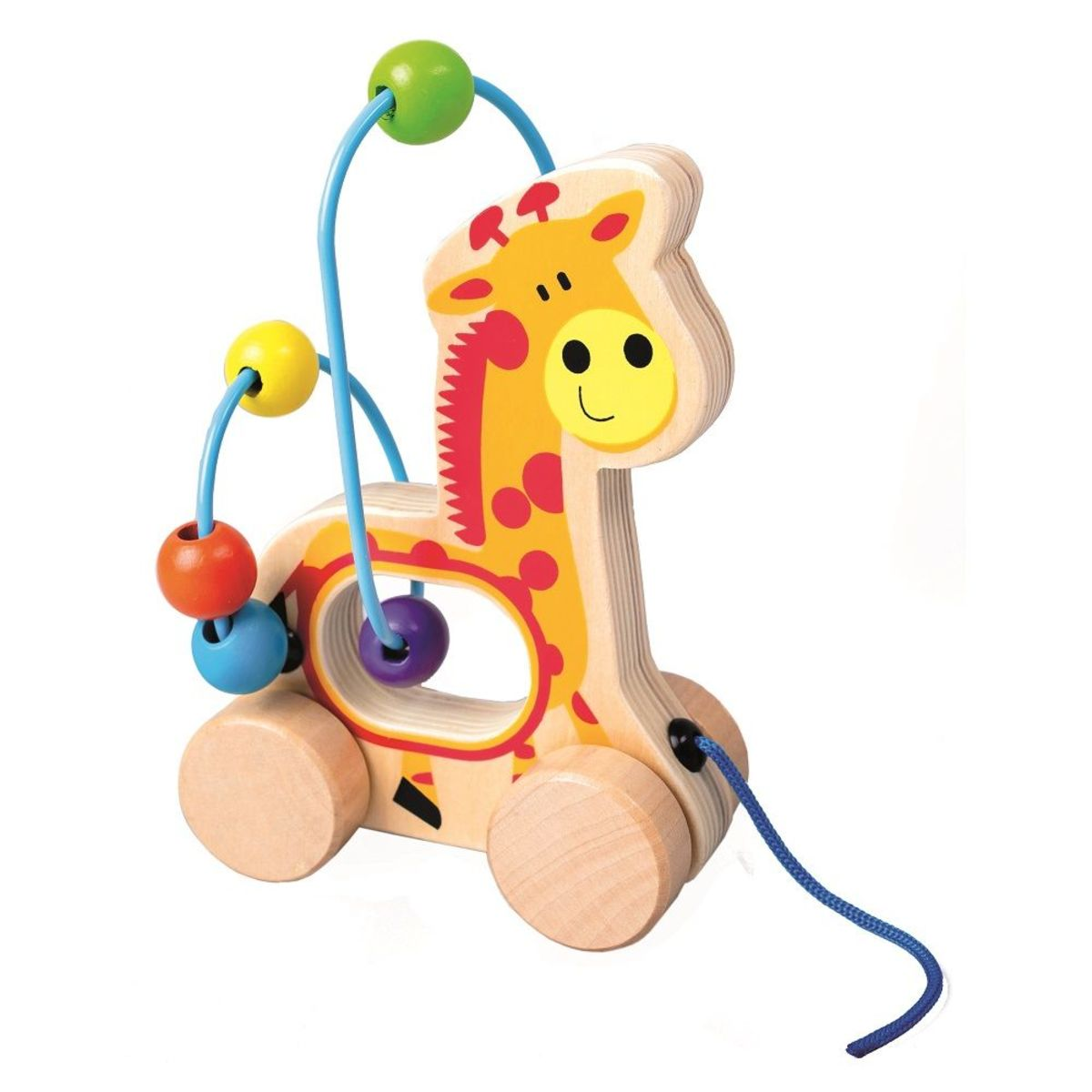 Jazdiaci žirafa Magda s motorickým labyrintom Giraffe bead maze