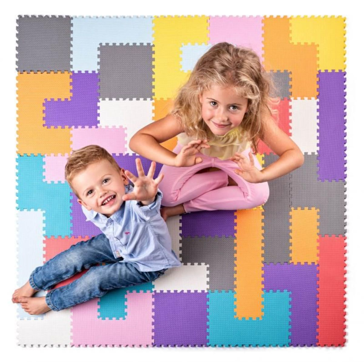 Ourbaby puzzle mat mix farieb