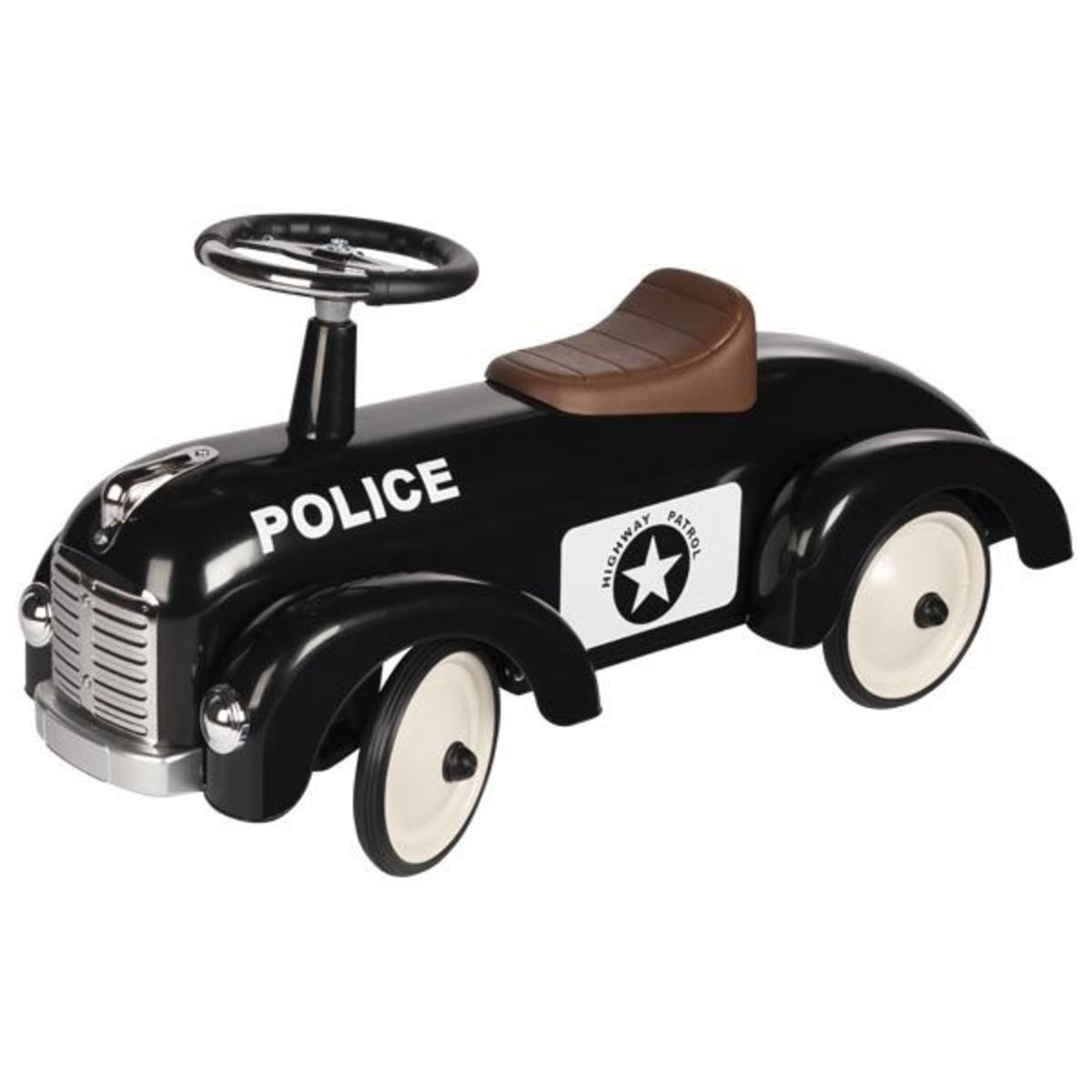Detské kovové odrážadlo - polícia ride-on car