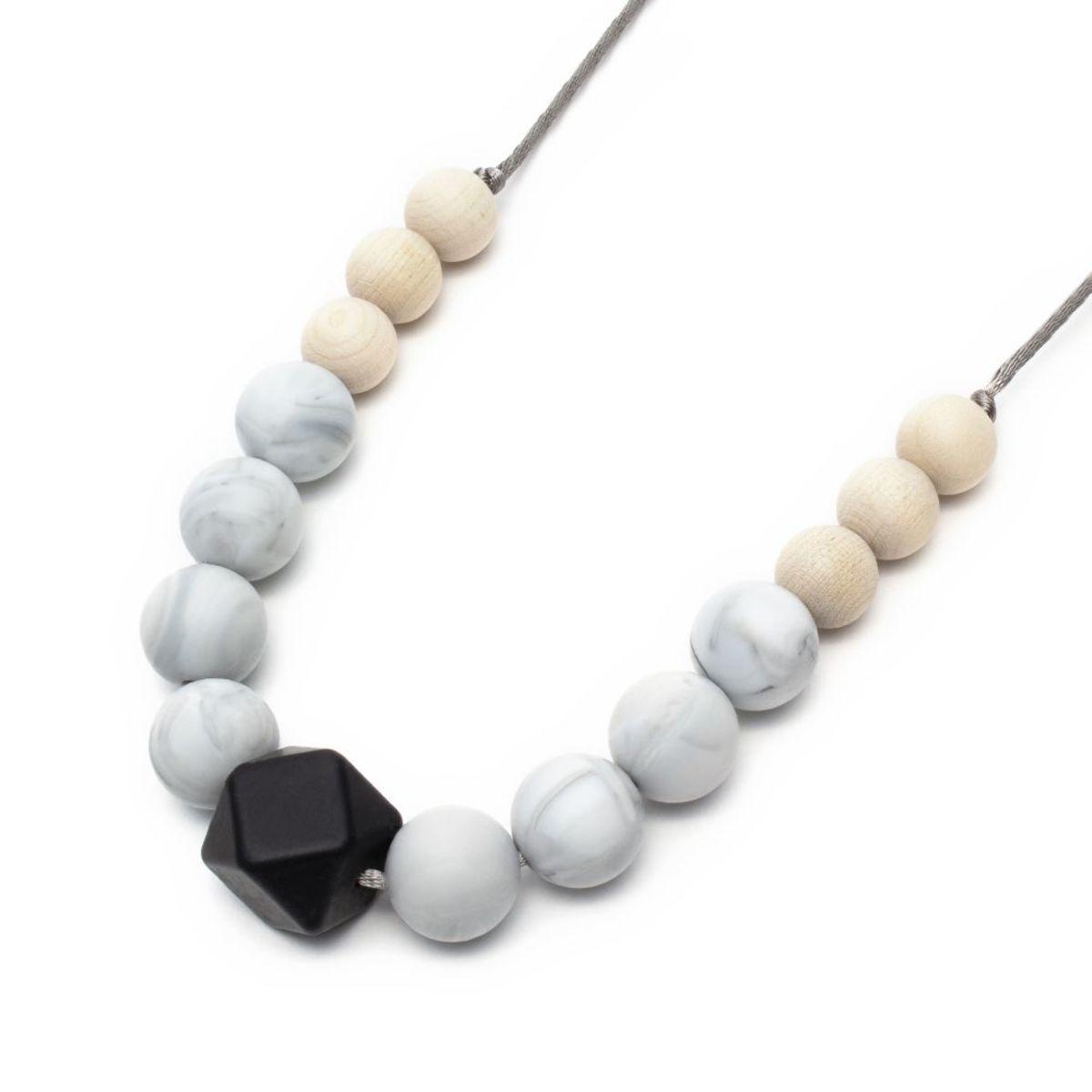 Silikónové dojčiace korále Blanca Silicone necklace